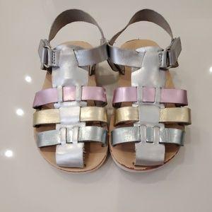 Zara metallic sandals toddler 24